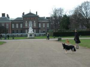 Niels, Stella and Rocky before Kensington Palace