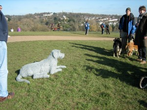 Dog Sculpted of Chicken Wire
