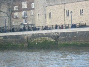 Traitor's Gate at the Tower of London - One of the stops on our boat ride to Greenwich