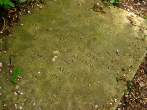 The Grave of Eliza Austen and Philadelphia Hancock