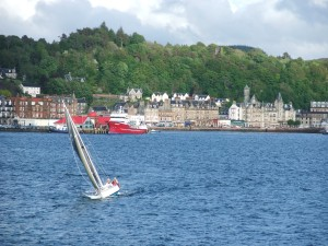 View of Oban from the Caledonian MacBrayne Ferry