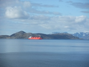 View of Gas Tanker from Hammerfest