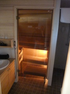 The Sauna in Our Room