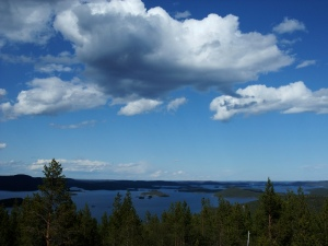 Lake Inari, with Russia on the Right