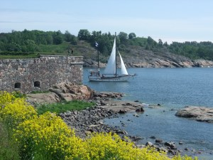 Hiking on Suomenlinna, an Island in Helsinki Harbor